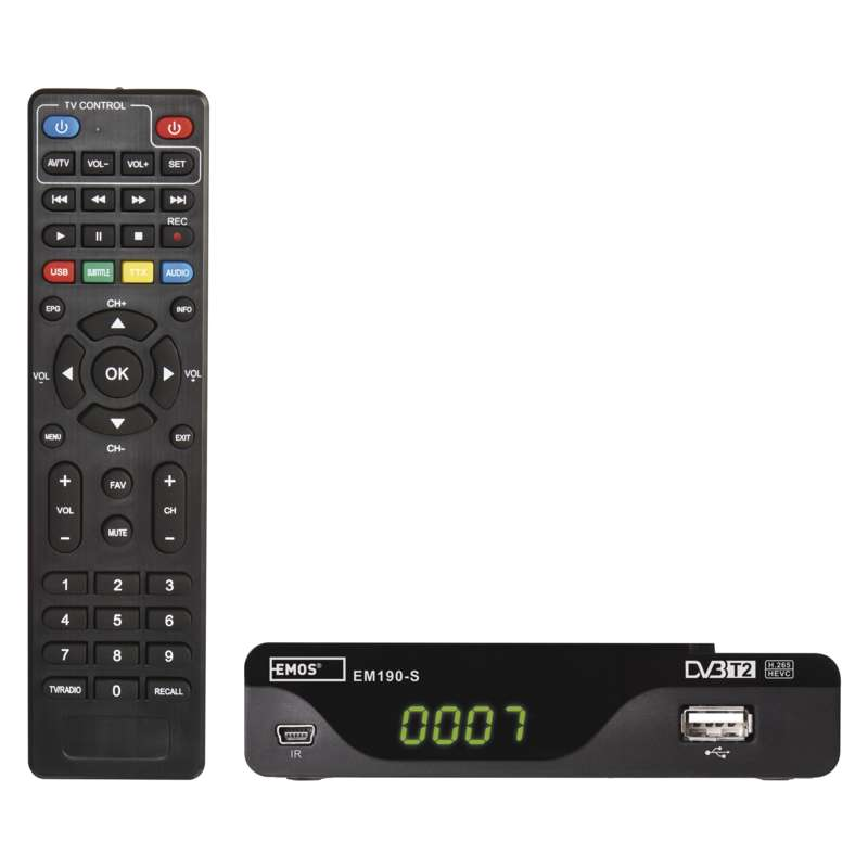 Set-top box EMOS EM190-S HD